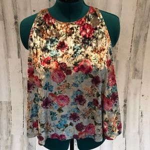 American Eagle First Essentials Velour Floral top